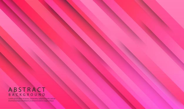 Różowe geometryczne abstrakcyjne tło nakłada się na warstwę z dekoracją 3d ukośnych kształtów