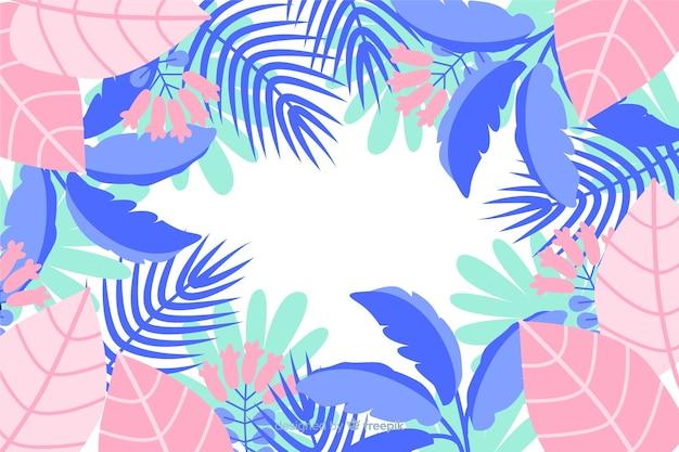 Różowe i niebieskie odcienie liści