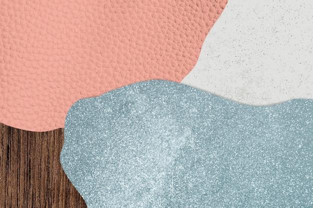 Różowe i niebieskie tło z teksturą kolażu