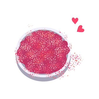 Różowe jasne iskierki do manicure