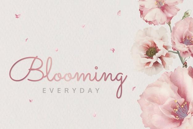 Różowe kwiaty kwitnące
