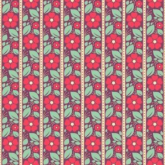 Różowe kwiaty na fioletowym tle