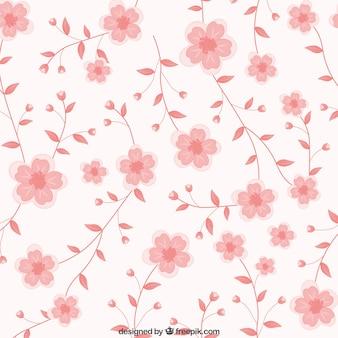 Różowe kwiaty w tle