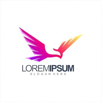 Różowe logo ptaka