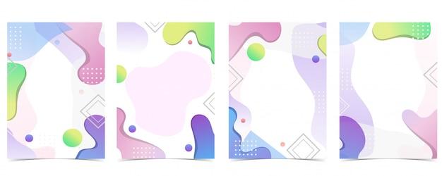 Różowe, niebieskie, zielone, pomarańczowe geometryczne abstrakcyjne tło z dynamicznym kształtem