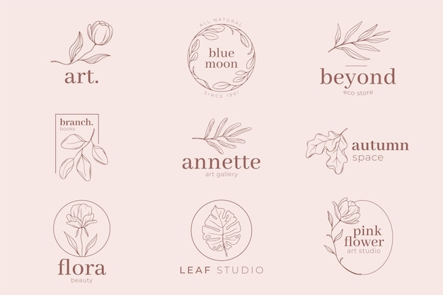 Różowe pastelowe kolorowe tło i szablon logo