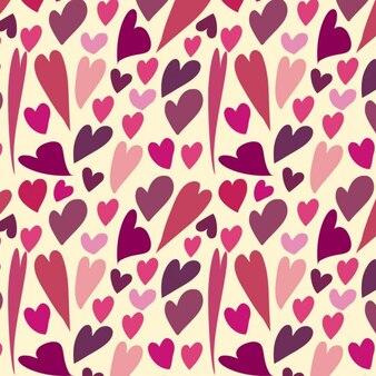Różowe serca wzór