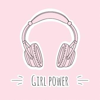 Różowe słuchawki