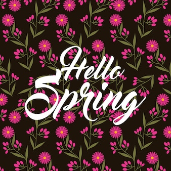 Różowe stokrotki kwiaty płatki witaj wiosna czarne tło