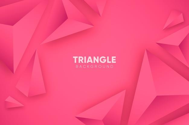 Różowe tło 3d z trójkątów