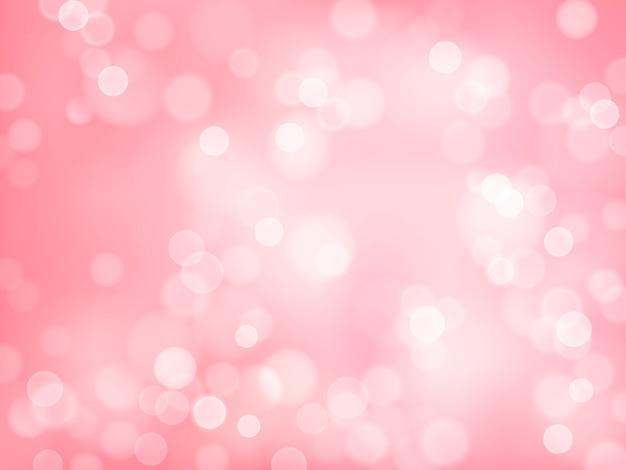 Różowe tło bokeh, tapeta z efektem rozmycia, którą można edytować