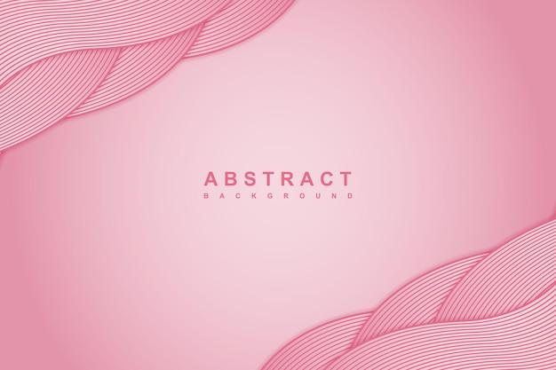 Różowe tło gradientowe z falistą zakładką