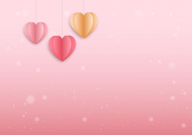Różowe tło na festiwal walentynki i wesele