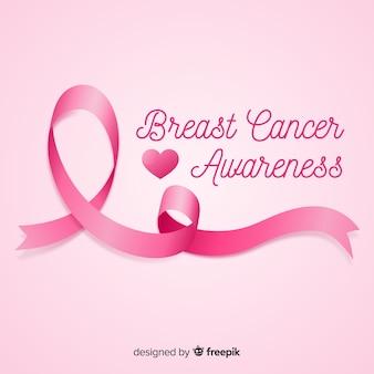 Różowe tło świadomości raka piersi