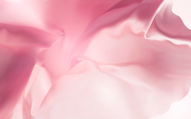 Różowe tło tkaniny jedwabnej, gładka i pływająca tekstura