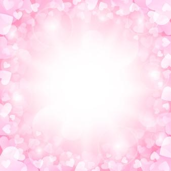 Różowe tło walentynki