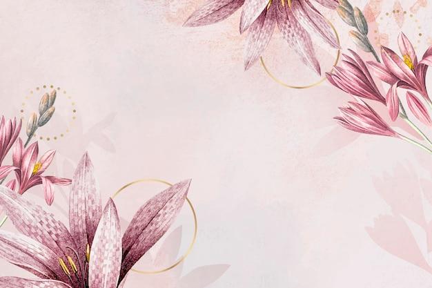 Różowe tło wzór amarylis