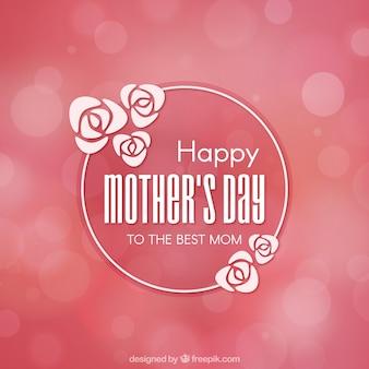 Różowe tło z mocą niewyraźne na dzień matki