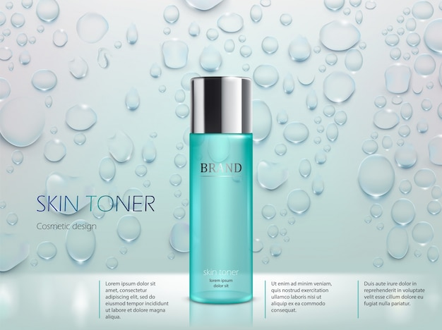 Różowe tło z moisturizing kosmetycznych produktów premium