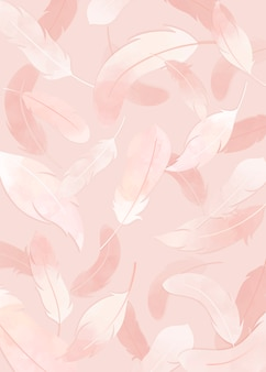 Różowe tło z piór
