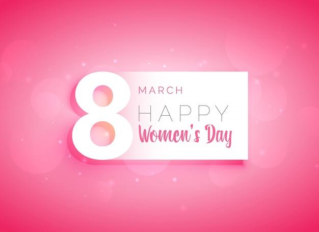 Różowe womans dzień karty z pozdrowieniami projekt