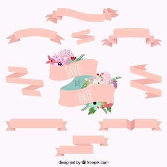 Różowe wstążki pielenie kolekcji