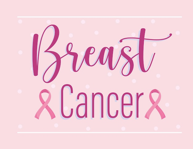 Różowe wstążki świadomości raka piersi ilustracja karty pomocy medycznej
