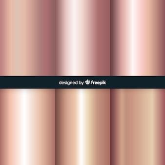Różowe złoto gradientowe tło