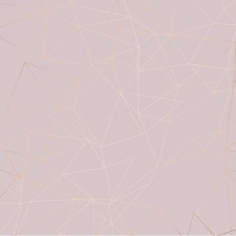 Różowe złoto low poly tło