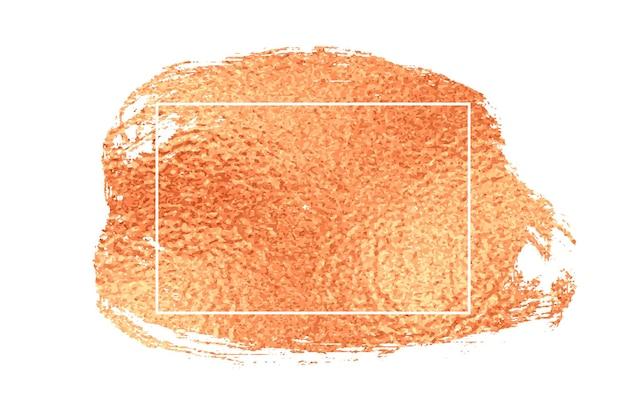 Różowe złoto obrysu pędzla tekstury tła