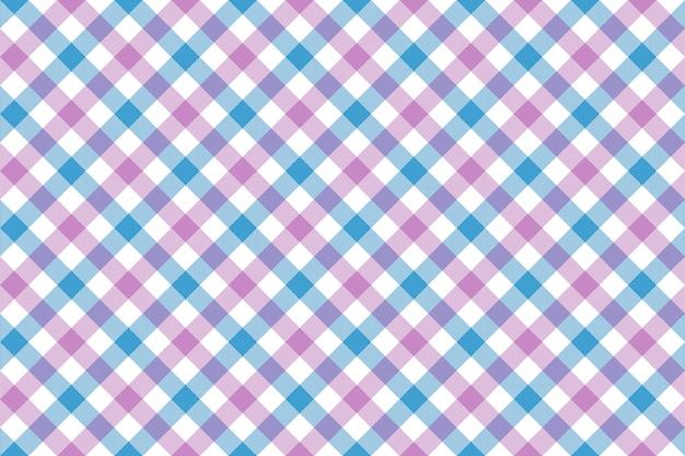 Różowego błękitnego czek tkaniny tekstury diagonalnego tła bezszwowy wzór