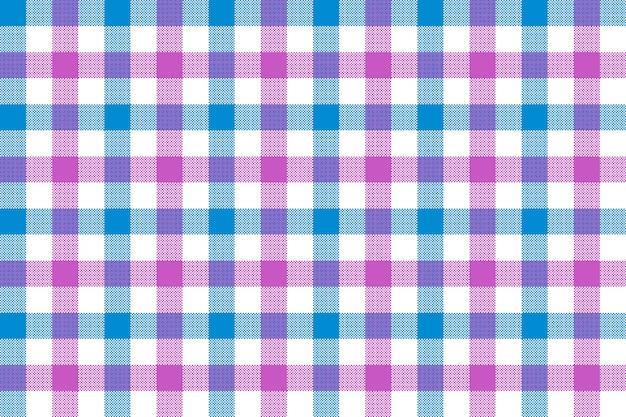 Różowego błękitnego czek tkaniny tekstury tła bezszwowy wzór
