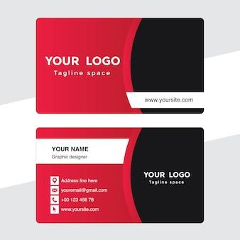 Różowo-czarna wizytówka szablon