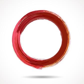 Różowo-marsala stylizowany akwarelowy pierścionek