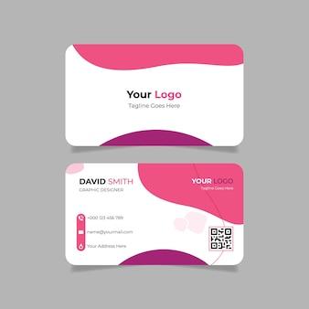 Różowy abstrakcyjny szablon wizytówki