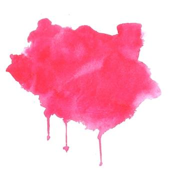 Różowy akwarela plama plama tekstura tło