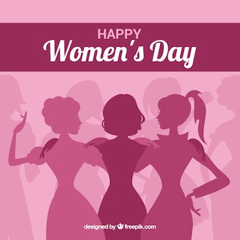 Różowy dzień kobiet tło