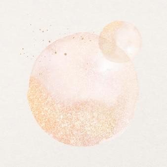 Różowy element projektu akwarela brokat estetyczny wektor