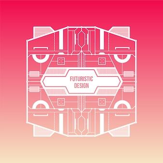 Różowy i beżowy gradientu tła z futurystyczne projektu