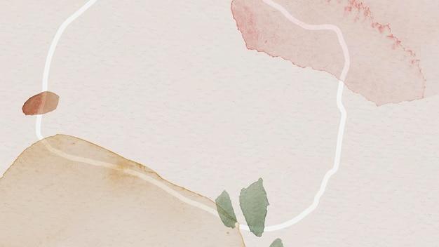 Różowy i brązowy szablon tła z akwarelą