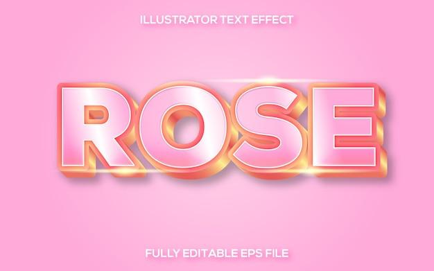 Różowy i złoty efekt tekstowy 3d
