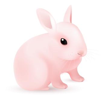 Różowy króliczek wielkanocny