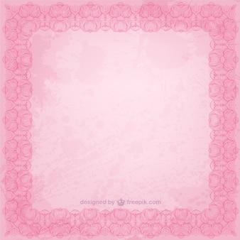 Różowy kwiatowy wektor ramki