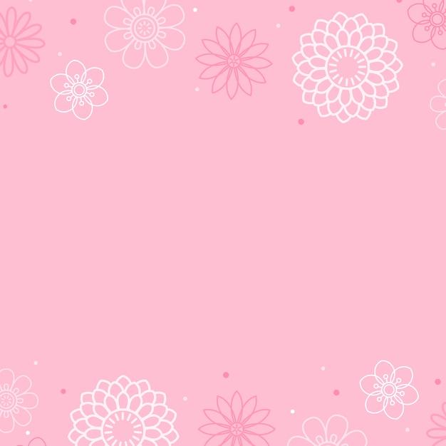 Różowy kwiatowy wzór