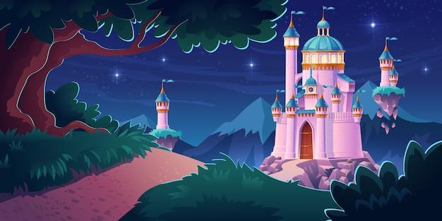 Różowy magiczny zamek