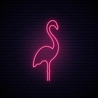 Różowy neonowy znak flaminga