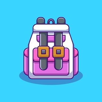 Różowy plecak z motywem kreskówki