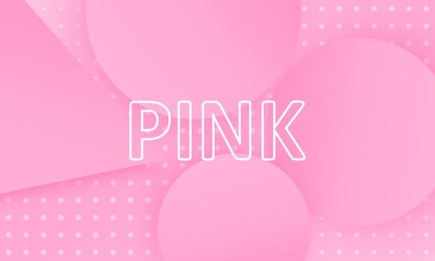 Różowy. płynne kształty. minimalistyczny projekt okładki. kreatywne kolorowe tapety. modny plakat gradientu. ilustracja. streszczenie tło różowy.