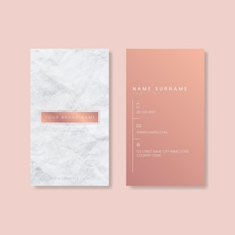 Różowy projekt wizytówki