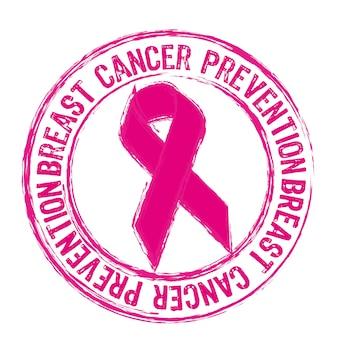 Różowy stempel zapobiegania raka piersi